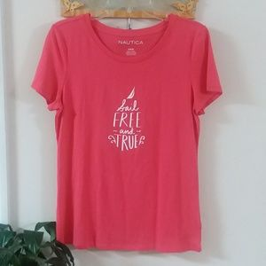 Nautica Blouse with print (Sail Free and True)
